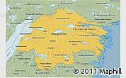 Savanna Style 3D Map of Östergötlands Län