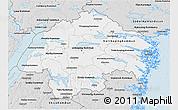 Silver Style 3D Map of Östergötlands Län