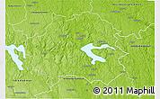 Physical 3D Map of Kinda Kommun
