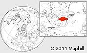 Blank Location Map of Östergötlands Län