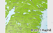 Physical Map of Östergötlands Län