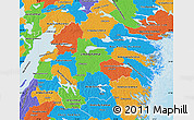 Political Map of Östergötlands Län