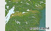 Satellite Map of Östergötlands Län