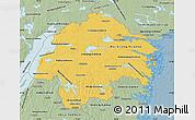 Savanna Style Map of Östergötlands Län
