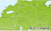 Physical 3D Map of Mjölby Kommun