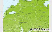 Physical Map of Mjölby Kommun