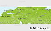 Physical Panoramic Map of Mjölby Kommun