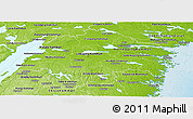 Physical Panoramic Map of Östergötlands Län