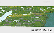 Satellite Panoramic Map of Östergötlands Län