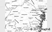 Blank Simple Map of Östergötlands Län