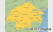 Savanna Style Simple Map of Östergötlands Län