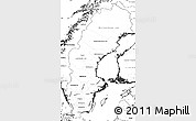 Blank Simple Map of Sweden