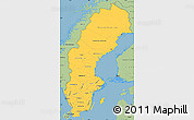 Savanna Style Simple Map of Sweden