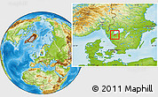 Physical Location Map of Grästorp Kommun