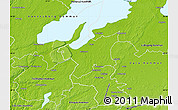 Physical Map of Grästorp Kommun