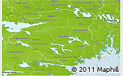 Physical 3D Map of Södermanlands Län