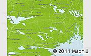 Physical Map of Södermanlands Län