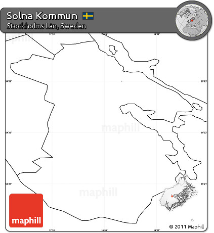 Free Blank Simple Map Of Solna Kommun No Labels - Sweden map solna