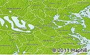 Physical 3D Map of Stockholm Kommun