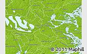 Physical Map of Stockholm Kommun