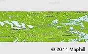 Physical Panoramic Map of Stockholm Kommun