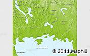 Physical 3D Map of Karlstad Kommun