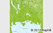 Physical Map of Karlstad Kommun