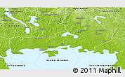 Physical Panoramic Map of Karlstad Kommun