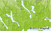 Physical 3D Map of Kil Kommun