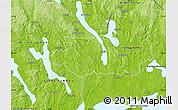 Physical Map of Kil Kommun
