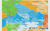 Political Shades Panoramic Map of Vármlands Län