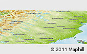 Physical Panoramic Map of Vásterbottens Län