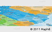Political Shades Panoramic Map of Vásterbottens Län