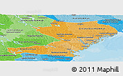 Political Shades Panoramic Map of Vásternorrlands Län