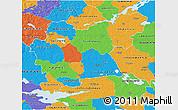 Political 3D Map of Västmanlands Län