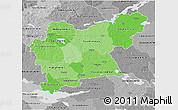 Political Shades 3D Map of Västmanlands Län, desaturated