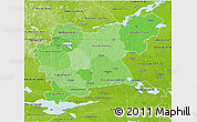 Political Shades 3D Map of Västmanlands Län, physical outside