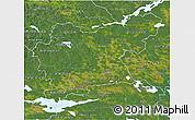 Satellite 3D Map of Västmanlands Län