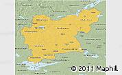Savanna Style 3D Map of Västmanlands Län