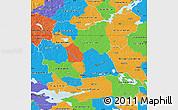 Political Map of Västmanlands Län