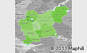 Political Shades Map of Västmanlands Län, desaturated