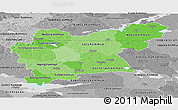 Political Shades Panoramic Map of Västmanlands Län, desaturated