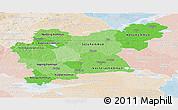 Political Shades Panoramic Map of Västmanlands Län, lighten