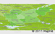 Political Shades Panoramic Map of Västmanlands Län, physical outside
