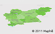 Political Shades Panoramic Map of Västmanlands Län, single color outside
