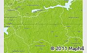 Physical 3D Map of Sala Kommun