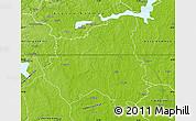 Physical Map of Sala Kommun
