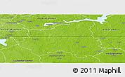 Physical Panoramic Map of Sala Kommun