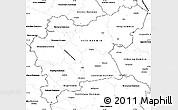 Blank Simple Map of Västmanlands Län