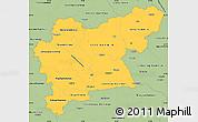 Savanna Style Simple Map of Västmanlands Län